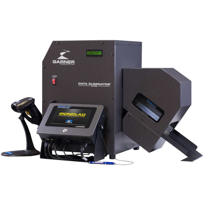 Garner HD-3WXL IRONCLAD - Secure Image Capture System With Degausser