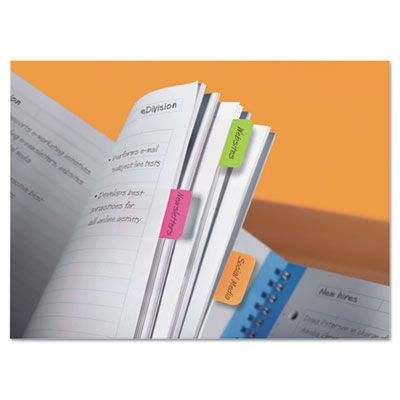 1 x 1 1//2 66//Pack 021200516979 Post-it® Tabs File Tabs Assorted Brights