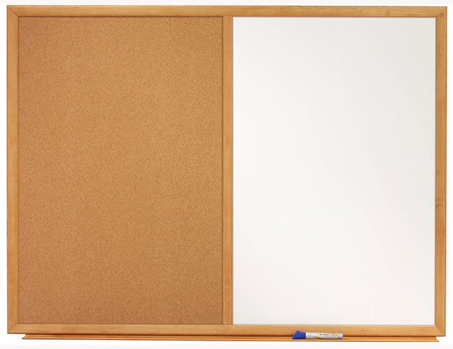 Dry Erase Calendar And Cork Board Combo : Quartet s dry erase and bulletin combo board