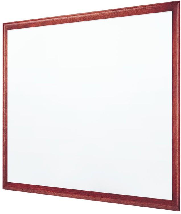 Quartet 2547m Classic Premium Mahogany Frame Magnetic Porcelain