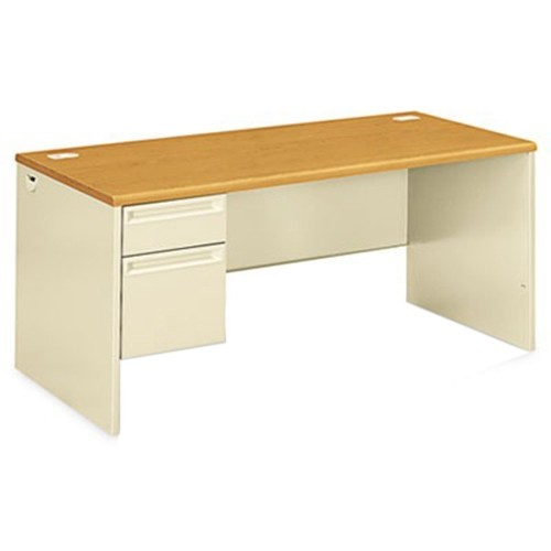 Hon 38292lcl 38000 Series Left Pedestal Desk 66w X 30d X 29 1 2h Harvest Putty
