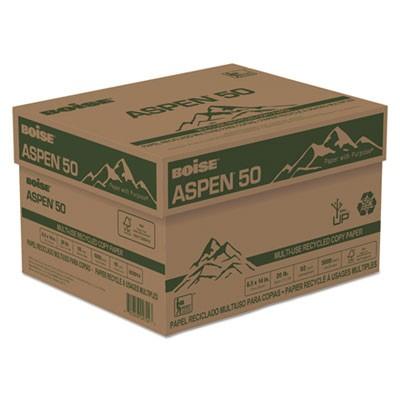 Boise ASPEN 100/% Multi-Use Recycled Paper 92 Bright 20lb 8-1//2 x 14 White 054924