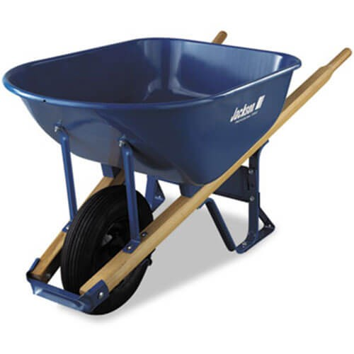 Jackson M6t22bb Contractor S Wheelbarrow 6 Cubic Feet Capacity