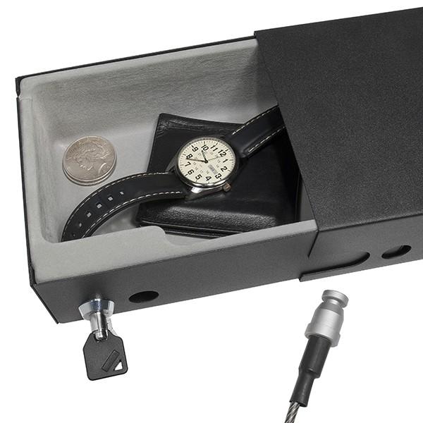 barska ax11810 drawer style compact safe lock box with key lock. Black Bedroom Furniture Sets. Home Design Ideas