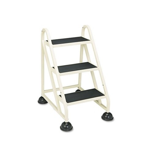 Incredible Cramer 103019 Three Step Stop Step Aluminum Ladder 32 3 4 High Beige Customarchery Wood Chair Design Ideas Customarcherynet