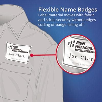 avery 8395 flexible self adhesive laser inkjet name badge labels 2