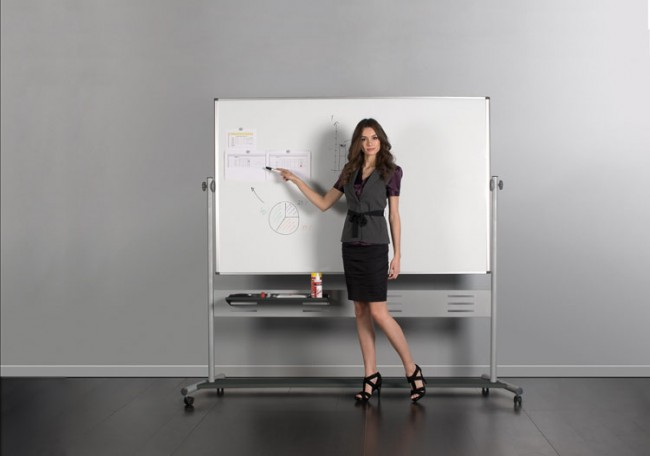 Mastervision Qr5507 80in Magnetic Double Sided Dry Erase