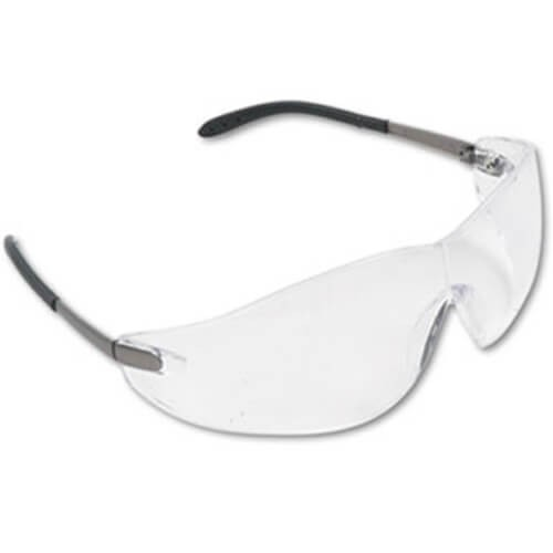 MCR Safety S2110BX Blackjack Wraparound Safety Glasses, Chrome ...