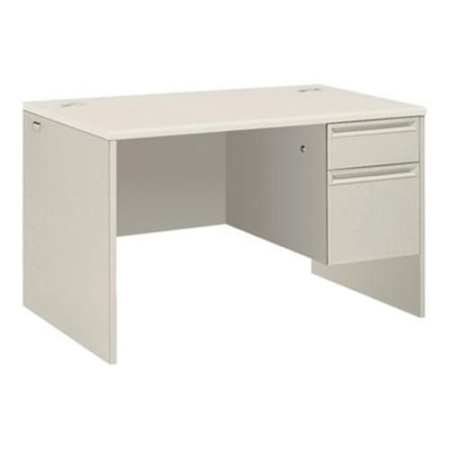 Hon 38251b9q 38000 Series Single Pedestal Desk 48 Wide Right Silver Mesh Light Gray