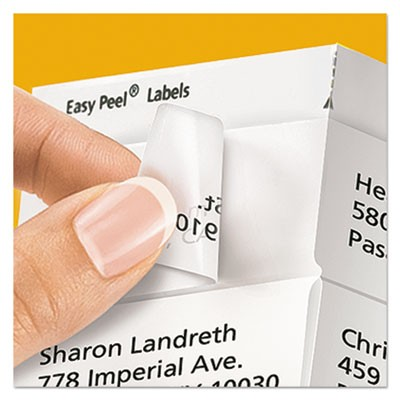 Avery 18695 Matte Clear Easy Peel Return Address Labels Inkjet 23