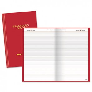 at a glance sd38513 standard diary recycled daily reminder red 4 1