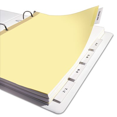Avery 11110 Insertable Big Tab Dividers 5 Tab Letter