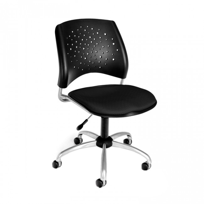 Ofm 326 2224 Stars Series Armless Fabric Swivel Chair Ea