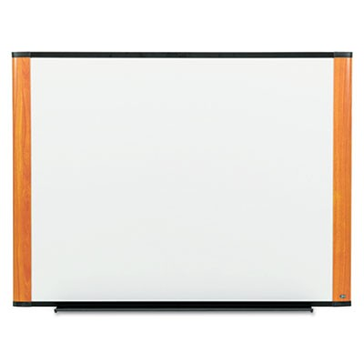 3M M4836LC Melamine Dry Erase Board, 48 x 36, Light Cherry Frame
