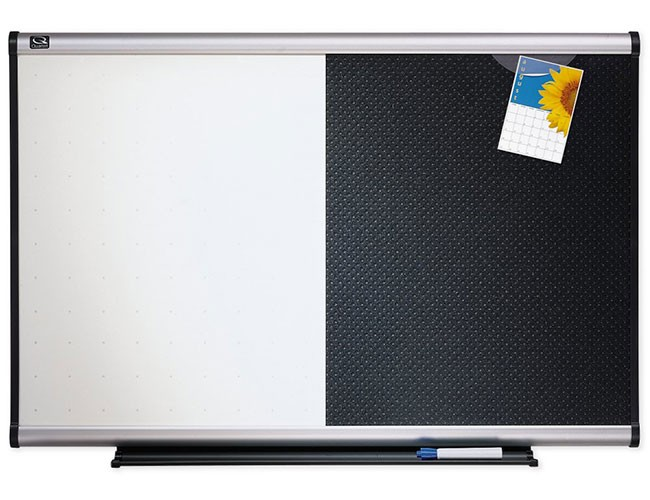 Quartet Bte643a Combination Dry Erase And Bulletin Board 3x2