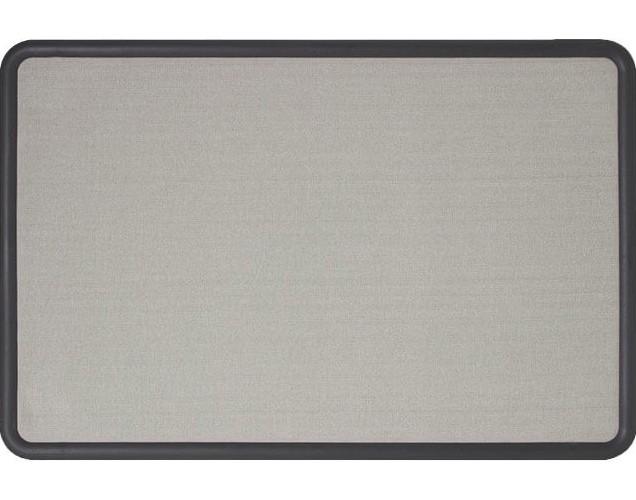 Quartet 7693G Contour Graphite Frame with Grey Fabric Bulletin Board ...