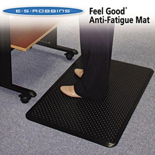 ES Robbins 184552 Feel Good Anti-Fatigue Floor Mat, 24 x 36, PVC, Black