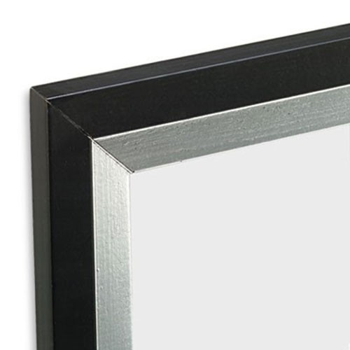 DAX 3404U1T Metro Series Poster Frame, Plastic, 24 x 36, Black/Silver
