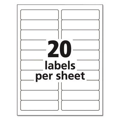 avery 5261 easy peel mailing address labels laser 1 x 4. Black Bedroom Furniture Sets. Home Design Ideas