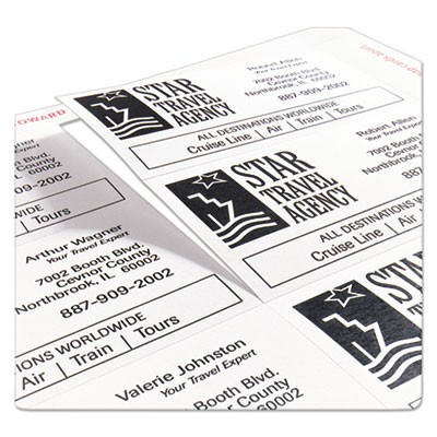 Avery 5871 clean edge business cards laser 2 x 3 12 white 200pack zoom colourmoves